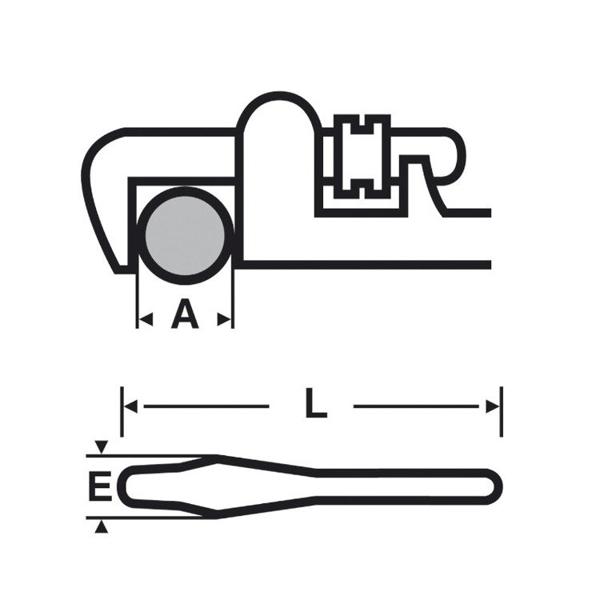 """Klucz Viragrip 48"""" o dużej wydajności VIRAX 013848"""