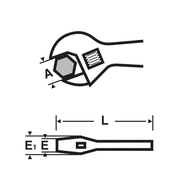 """Klucz główkowy o dużym rozwarciu szczęk VIRAX 6"""" 017047"""