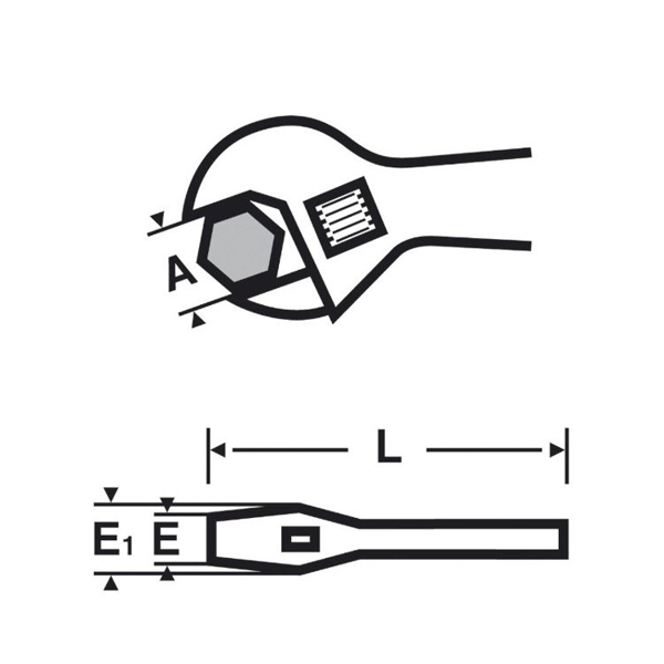"""Klucz główkowy o dużym rozwarciu szczęk VIRAX 8"""" 017050"""