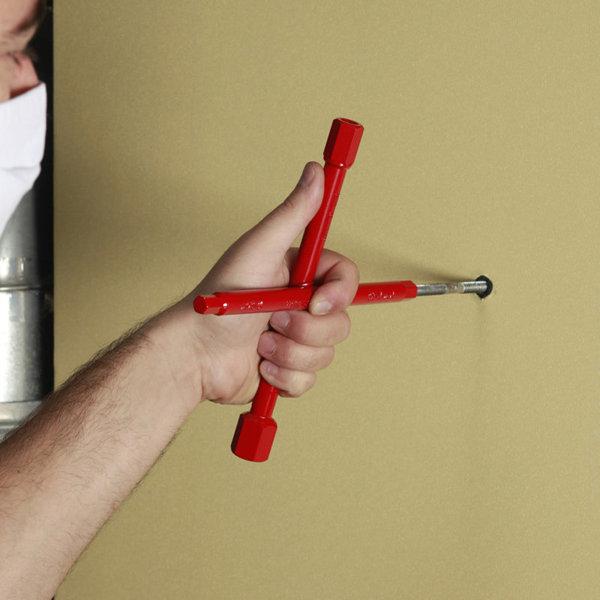 Klucz krzyżakowy do instalacji sanitarnych VIRAX 220470