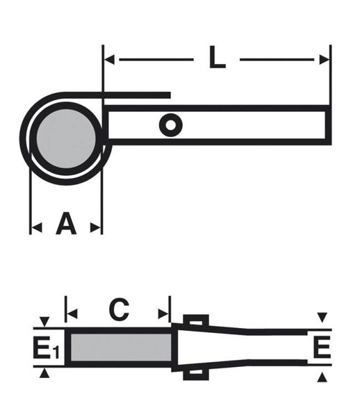 Klucz łańcuchowy dwustronny VIRAX [RÓŻNE MODELE DO WYBORU]