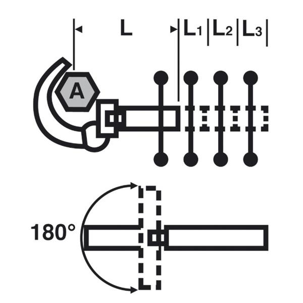 Klucz umywalkowy teleskopowy Sanicrom® VIRAX 261460