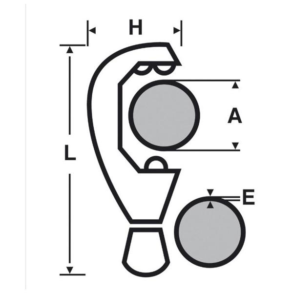 Obcinak ZR 35 do rur z tworzyw sztucznych VIRAX 210487